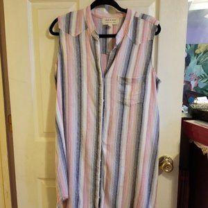 Cloth & Stone Striped Top Size L EUC